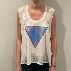 Chaser Blue Purple White Triangle Tank Top